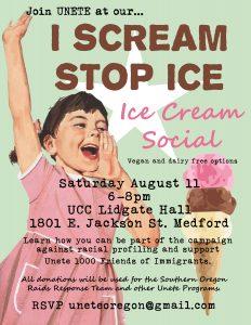I Scream NO to ICE  Ice Cream Social